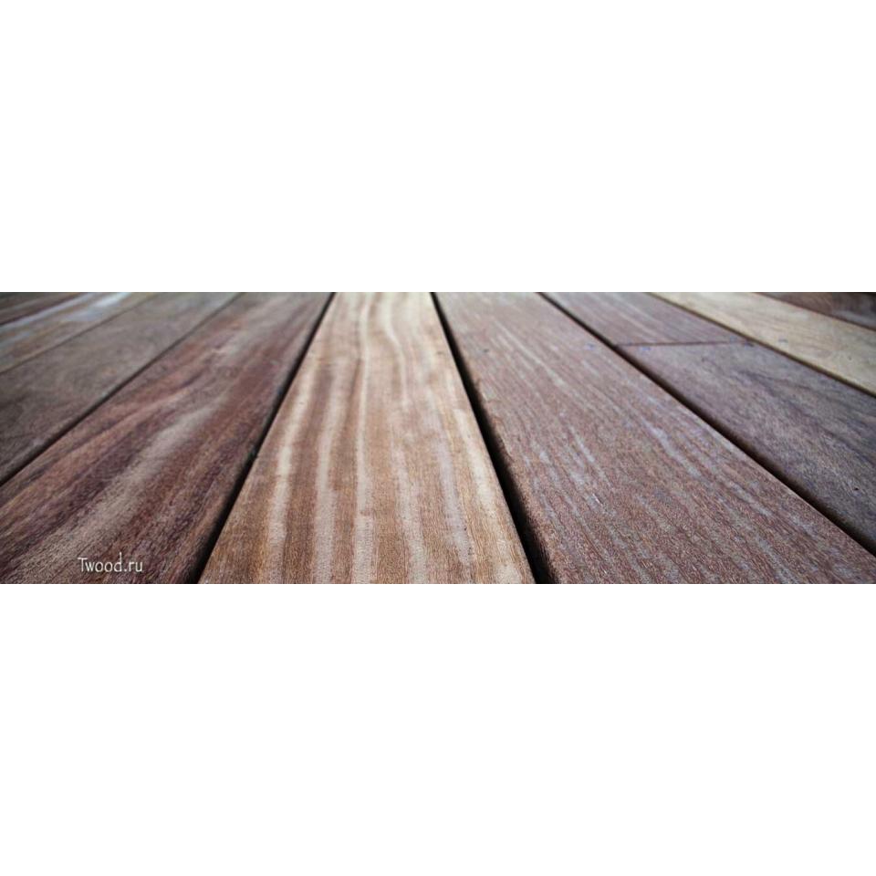 Террасная доска Кумару гладкая 21 мм.